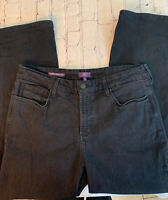 NYDJ Not Your Daughters 14 Short Tummy Tuck Jeans Marilyn Straight Leg Dark Blue