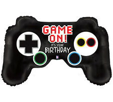 Gamer Birthday Balloon Set of One 36 in Video Game Controller One 18 in Level Up