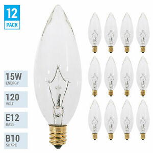 4.00 watts Blingcolor Dimmable B10 Led Bulb 4W = 40W E12 LED Filament Bulb Candlestick Base Super Warm White 2700K C32 6Pack 120V