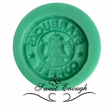 Starbucks Silicone Mould mold Chocolate Cupcake Toppers Cake Coffee