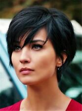 Short Straight Black Wig Synthetic Cosplay Wigs Natural Looking Wig for Women