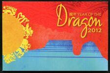 Isla de pascua 2012 año del dragón year of the Dragon zodic marcas cuaderno mnh