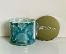 NEW! BATH & BODY WORKS WHITE BARN 3-WICK SCENTED CANDLE - FALL FARMHOUSE