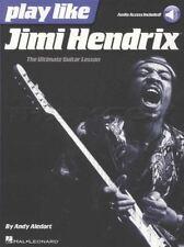 Juegue como Jimi Hendrix TAB Libro de música con acceso de audio aprende a jugar método