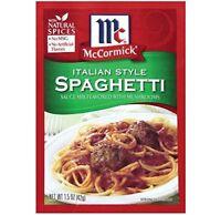McCormick Italian Mushroom Spagehetti Sauce Mix (Pack of 2) 1.5 oz Packets