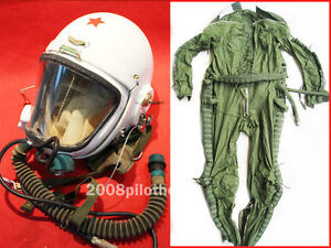 Flight Helmet 2# High Altitude Astronaut Space Pilots Pressured< FLIGHT SUIT 2#