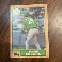 1987 Topps MARK McGWIRE Rookie Baseball Card #366 Oakland Athletics MINT/NRMINT!