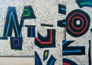"""ACEO NEW original text collage/vintage papers/gloss finish """"Multiple O's"""""""
