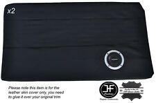 BLACK LEATHER 2X FRONT FULL DOOR CARD TRIM COVER  FITS BMW E10 2002 1802 Tii