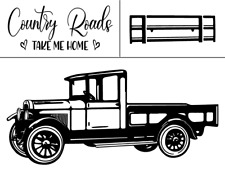 Reusable Adhesive Stencil Farm Truck Stencil Magnolia Design Co