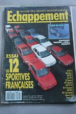 ECHAPPEMENT 274 / AOUT 91 : AX GTi 205 RALLYE 205 GTi CLIO 16S ZX VOLCANE R19 BX