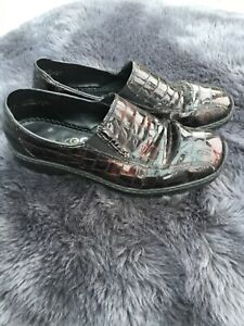Rieker wonder antistress brown patent leather shoes - size 3