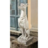 Art Deco Aristocratic Graceful Whippet Statue Sentinel Greyhound Sculpture