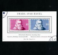 Switzerland Stamps # B178 VF Used s/s Scott Value $65.00