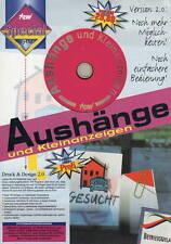 ★ AUSHÄNGE UND KLEINANZEIGEN - 150 Vorlagen - Nostalgie - ★