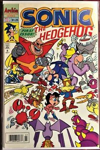 SONIC The HEDGEHOG Comic Book #1 July 1993  First Issue Bagged Boarded NM+