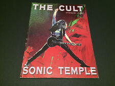 THE CULT SONIC TEMPLE SHEET MUSIC 1990 UK SONGBOOK SONG BOOK