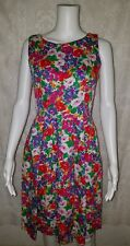 Lanz Originals Floral Print Vintage Dress Pleated sz Small? Pockets