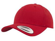 NEW FLEXFIT BASEBALL CAP BLACK PLAIN SNAPBACK TRUCKER FITTED GOLF ERA PEAK HAT