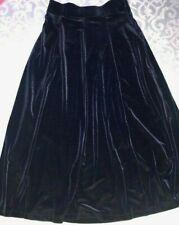 New Land's End super soft &comfortable blue velvet maxi skirt women size 4US (S)