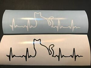 Heartbeat Cat Vinyl Decal Sticker For Window Car Truck Free Shipping Dog