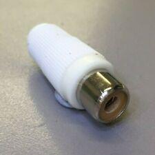 White RCA Phono Female Solder Socket Plug