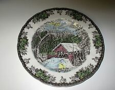 Johnson Brothers THE FRIENDLY VILLAGE 2006 Covered Bridge Year Plate NWT