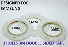 Cinta de Doble Cara Transparente para Teléfonos Móviles, 3 piezas 1mm, 2mm, 3mm