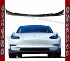 CFRP Carbon Fiber Drill on Front Lip Fit 17-20 Tesla Model 3 Electric Sedan Use