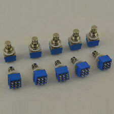 10x 3PDT 9-PIN Guitar Effects Pedal Stomp Foot Switch- True Bypass Switches