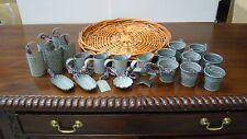 Set of 20 pieces Country Primitive Mini Tin Metal Decorations