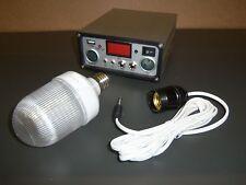 DIGITAL 10A 12V SOLAR CHARGE CONTROLLER W DC SOCKETS, LVD, LIGHT BULB & USB PORT