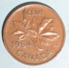 1954 Canada Copper Cent - circulated TOP KEY DATE