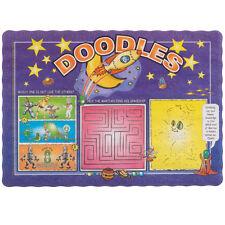 NEW 1000 Doodles Children's Kid's Interactive Restaurant Paper Placemats