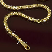 18K YELLOW GOLD GF CHAIN NECKLACE 60CM AEIWO