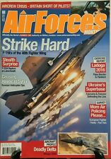 Air Forces Monthly June 2016 Strike Hard Stealth Surprise F 22A FREE SHIPPING sb