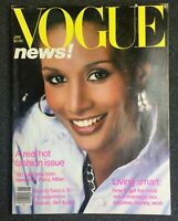 Vintage Vogue Magazine January 1981 Beverly Johnson Cover Model Great Ads