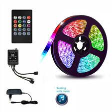 24V 5m-10m 5050SMD RGB LED Stripe Leiste Streifen Band WiFi APP Controller Trafo