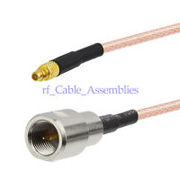 """FME male to MMCX male ST RF adapter pigtail Coaxial cable RG316 6"""" for Wireless"""