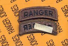 US ARMY RANGER OD Green variant Black TAB patch m/e