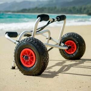 Kayak Canoe Trolley With Strap & Pneumatic Wheels Cart Fast Foldable 80kg Load
