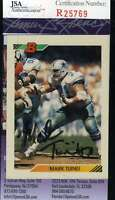 MARK TUINEI JSA COA Autographed 1992 BOWMAN Authentic Signed Cowboys
