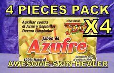 4 SULFUR NATURAL CLEANSER SOAP ACNE PIMPLES SCAR BLEMISH BLACKHEADS JABON AZUFRE