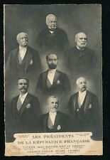 France politics Les Presidents de la Republique 1904 u/b PPC