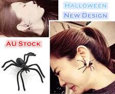 Fashion Metal Halloween Spider Earring Jewelry Skull Black Party Ear Stud 35mm