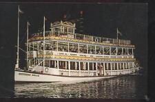 Postcard Ft Lauderdale Florida/Fl Capt Al Starts Riverboat Tours Promo Ad 1950's