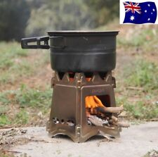 Portable Outdoor Camping Folding Stove Small Pocket Size Wood Cooking Stove