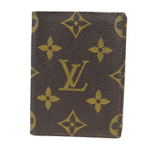 Auth Louis Vuitton Monogram Leather Card Case Brown 07FA803