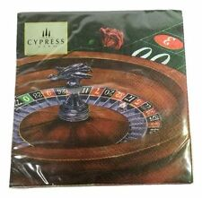 Cypress Paper Cocktail Napkins Gambling Roulette 20 Ct 10x10 inch New