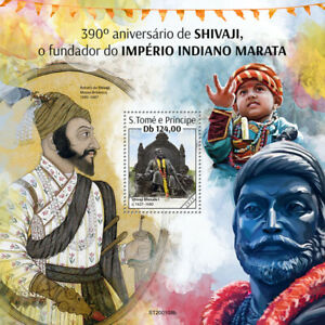 Sao Tome & Principe Historical Figures Stamps 2020 MNH Shivaji Indian King 1v SS